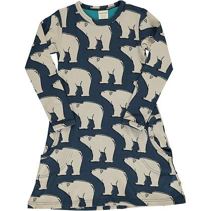 MAXOMORRA organic Long Sleeve Dress | Polar Bear