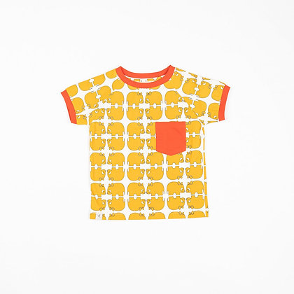 ALBA of Denmark Short Sleeve Top Simon | Bright Gold Wanna Be an Animal