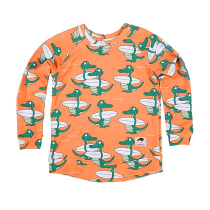 MULLIDO organic Sweatshirt | Orange Crocodile