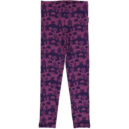 MAXOMORRA organic Leggings Sweat | Purple Landscape