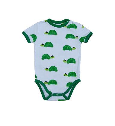 MOROMINI organic Short Sleeve Bodysuit | Happy Turtle