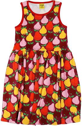 DUNS Sweden organic Sleeveless Dress Fruits | Mandarin Red & Boysenberry