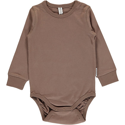 MAXOMORRA organic Long Sleeve Body | Hazel Brown