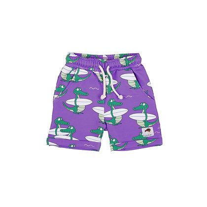 MULLIDO organic Shorts | Purple Crocodile