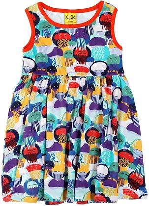 DUNS Sweden organic Sleeveless Dress Jellyfish | Purple and Teal