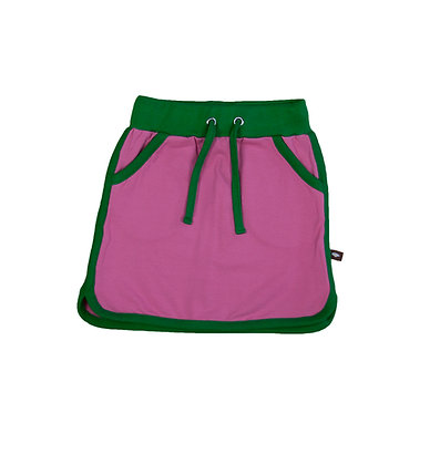 MOROMINI organic Retro Running Skirt | Green & Pink