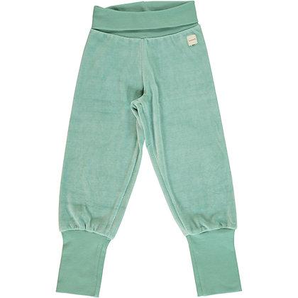 MAXOMORRA organic VELOUR Rib Pants | Soft Teal