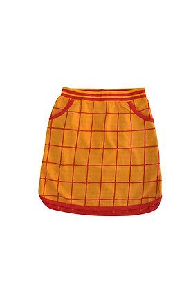 MOROMINI organic Retro Running Skirt | Grid Jaquard