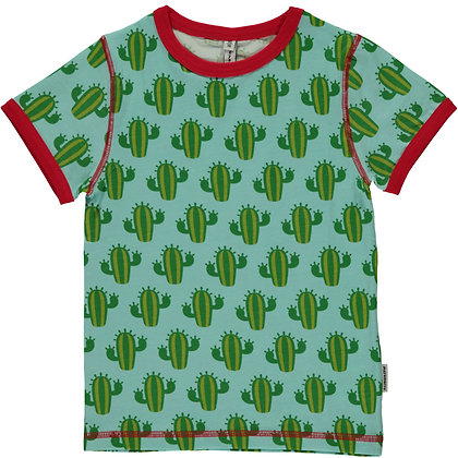 MAXOMORRA organic Short Sleeve Top | Cactus