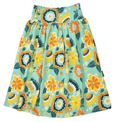 MOROMINI organic Sun Skirt | Mumbai Flower Market Green