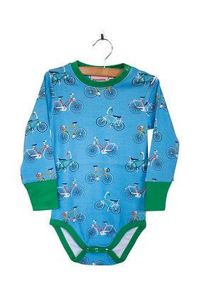 MOROMINI organic Long Sleeve Bodysuit | Bike Like a Swede
