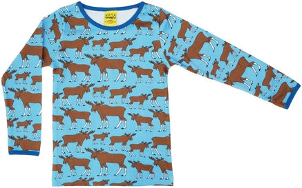 DUNS Sweden organic Long Sleeve Top Moose | Blue