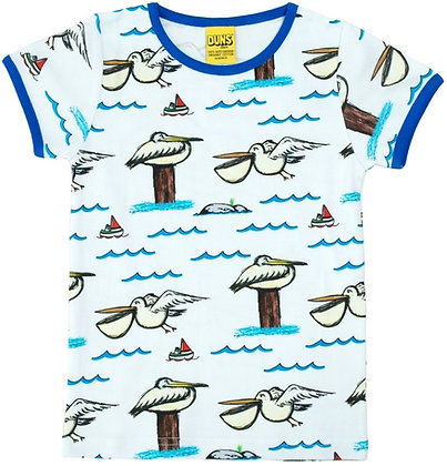DUNS Sweden organic Short Sleeve Top Pelican
