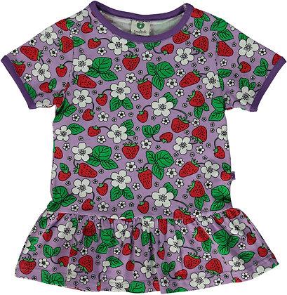 SMAFOLK organic Short Sleeve Top with skirt, Strawberries | Viola