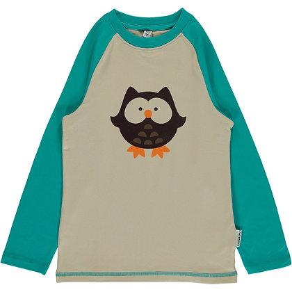 MAXOMORRA organic Long Sleeve Top Print   Owl