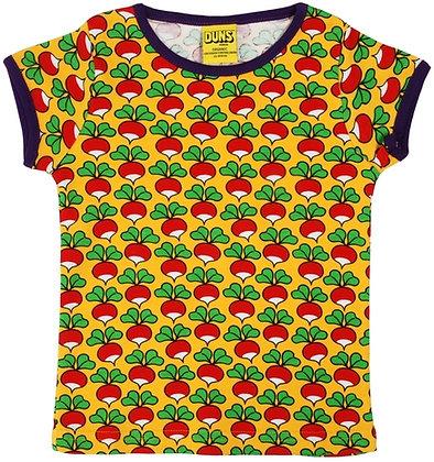 DUNS Sweden organic Adult Short Sleeve Top Radish | Yellow