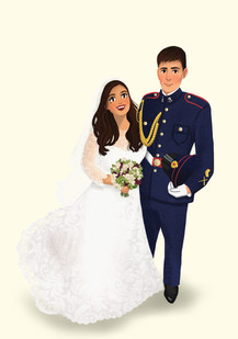 custom army wedding portrait