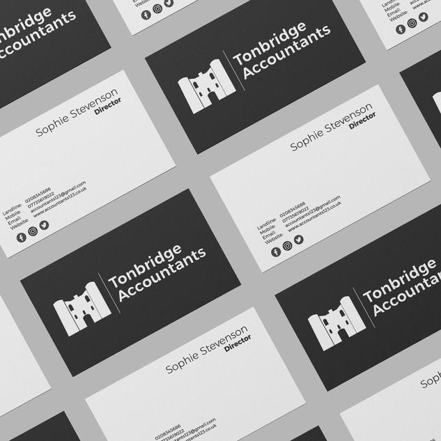 tonbridge accountants business card design graphic design