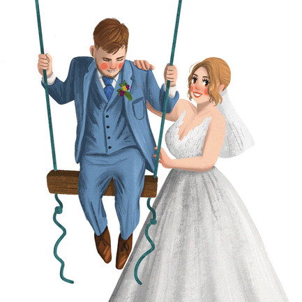 wedding portrait art made in kent