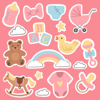 baby girl pregnancy stickers
