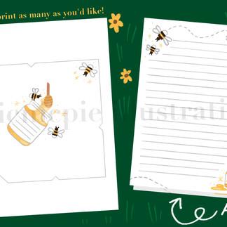 Bee paper Etsy