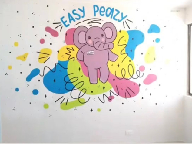 mural art of my character design