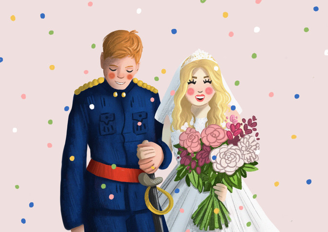 custom wedding gift illustration piece