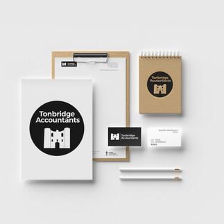 tonbridge accountants graphic design branding package
