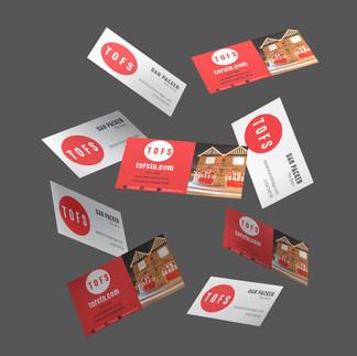 the old firestation tonbridge graphic design business cards
