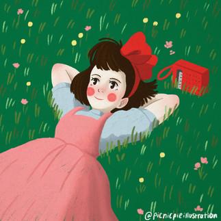 kiki's delivery service fan art commission illustration