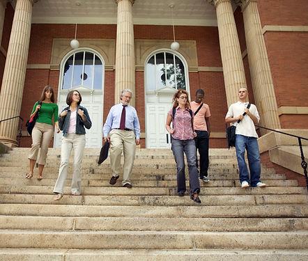 University Students and Professor