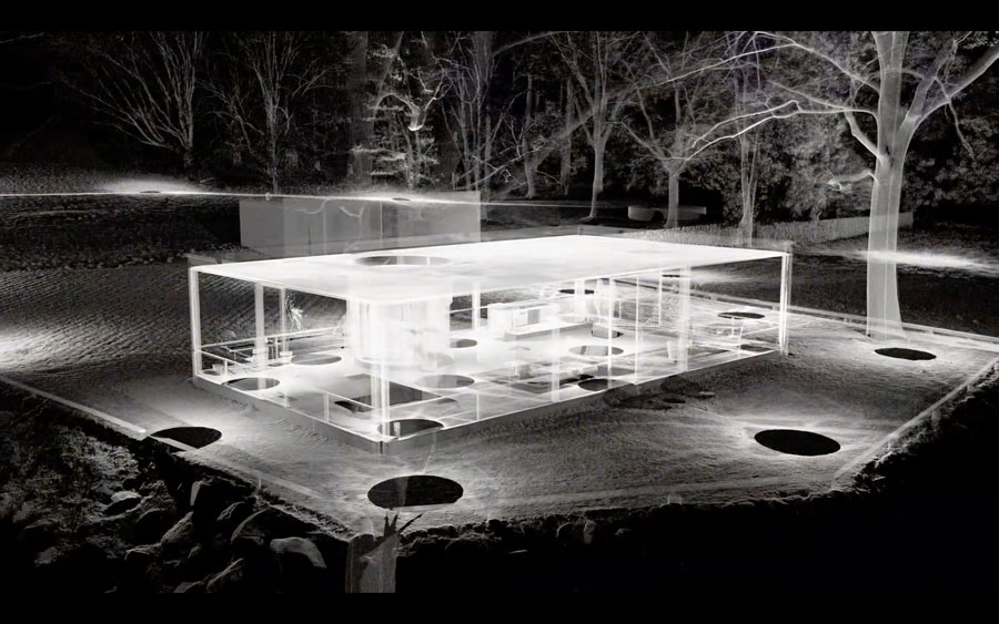 Texture and Transparency Glass House Philip Johnson