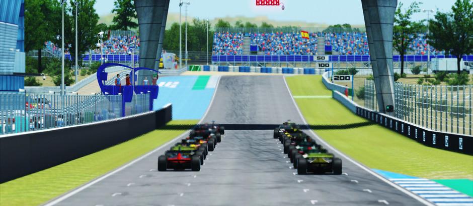 VFC-2021: Rennbericht Spanien GP - Pohlenz rast im Clipper zum Sieg - Zweiter Massencrash in Kurve 1