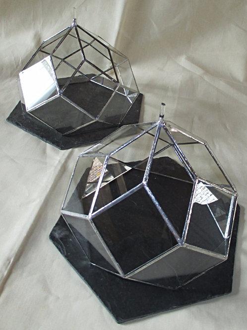Zome en verre 6 avec plateau ardoise