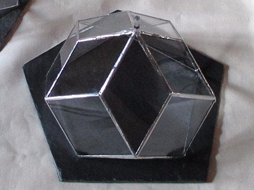 Zome en verre 5 avec plateau ardoise