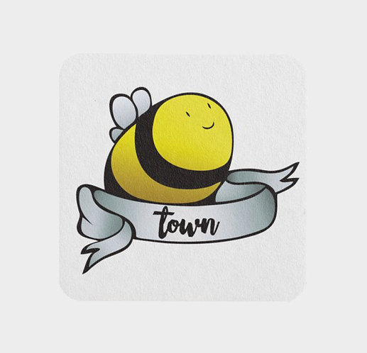 Bee Town - Paper Coasters