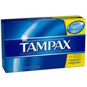 Tampax Regular Tampons 10 Count