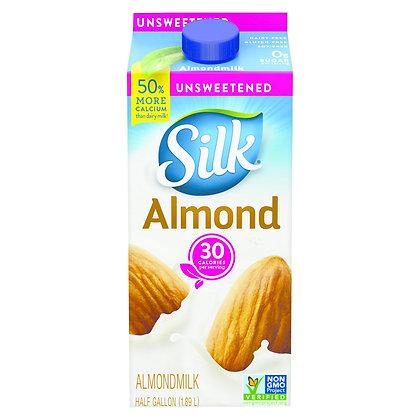 Silk® Pure Almond Unsweetened Vanilla Almond Milk - 0.5gal