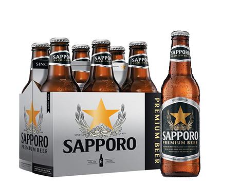 Sapporo 6 Pack Bottles 12 oz