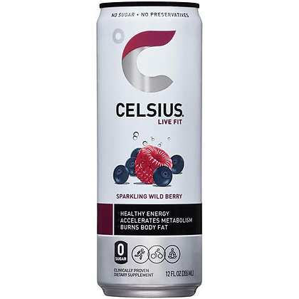 CELSIUS® Wild Berry Sparkling Energy Drink - 12 fl oz Can