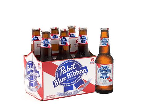 Pabst Blue Ribbon® Beer - 6pk / 12oz Bottles