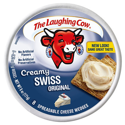 The Laughing Cow Original Creamy Swiss Spreadable Cheese