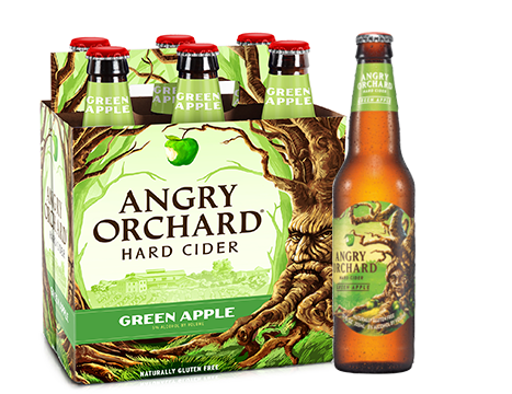 Angry Orchard Hard Cider, Green Apple, Glass Bottles 6 Pack 12 oz