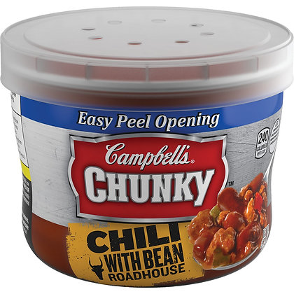 Campbell's® Chunky™ Roadhouse Chili with Bean Microwaveable Bowl 15.25 oz