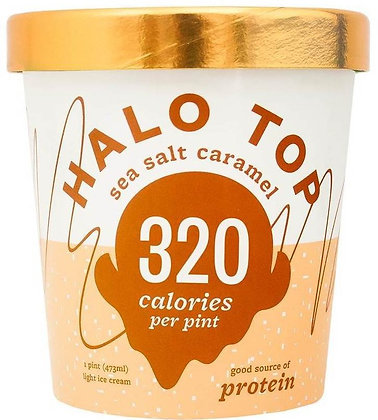 Halo Top Sea Salt Caramel Ice Cream - 16oz