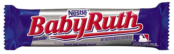 Nestle Baby Ruth Peanuts Caramel and Chewy Nougat Candy Bar