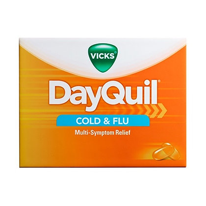 Vicks DayQuil Cold & Flu Multi-Symptom Relief LiquiCaps 4 Pack