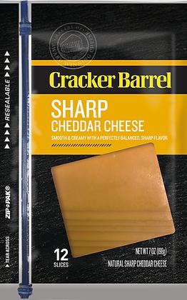 Cracker Barrel Sharp Cheddar Cheese Slices