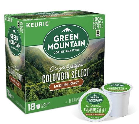 Green Mountain Colombian Select Medium Roast Coffee - Keurig K-Cup Pods - 18ct