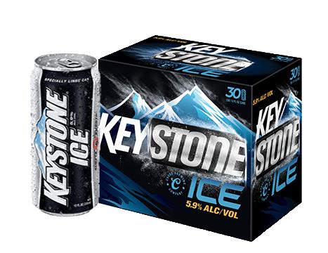 Keystone® Ice Beer 30-12 fl. oz. Cans